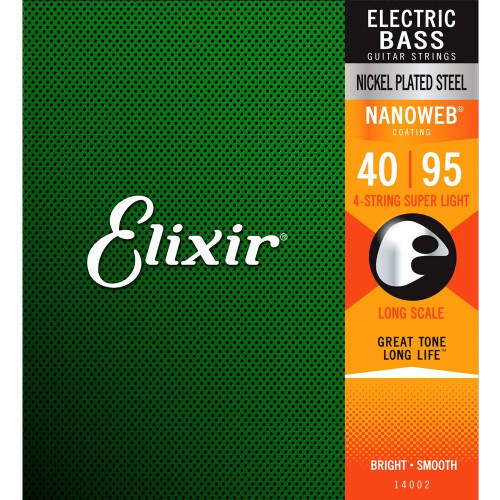 Encordoamento Elixir  Baixo 4 Cordas - 045, Super Light   3219